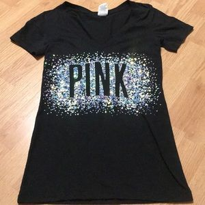 Pink Victoria Secret Women's tee shirt size XS